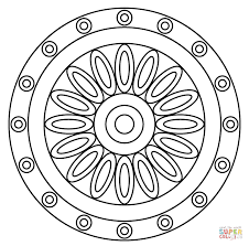 Click The Mandala With Flower Pattern Coloring Pages To View Printable