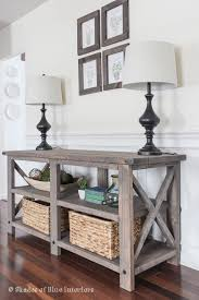 diy sofa table this is an ana white design it could work out well