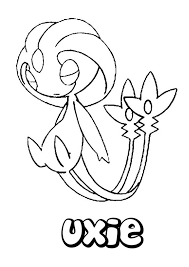 Uxie Pokemon Coloring Page Find Out Your Favorite Pages In PSYCHIC POKEMON Enjoy With The Colors Of Choice