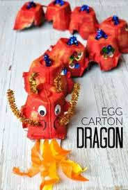 A Fun Way To Make An Egg Carton Dragon Craft Great Chinese New Year