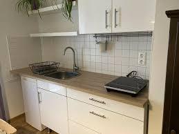 single küche hochglanz weiß