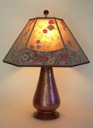 Mica Lamp Shade Replacement by Hammered Copper Lamp Cherry Blossoms Mica Lamp Shade Sue Johnson