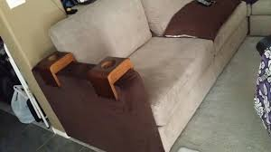 Lovesac Sactionals With Deep Cup Holders Chocolate Brown Walls