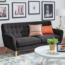 home decorators collection gordon grey velvet sofa 0849400120