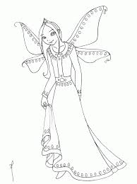 Free Background Coloring Fairy Printable Pages New At For Adults Az