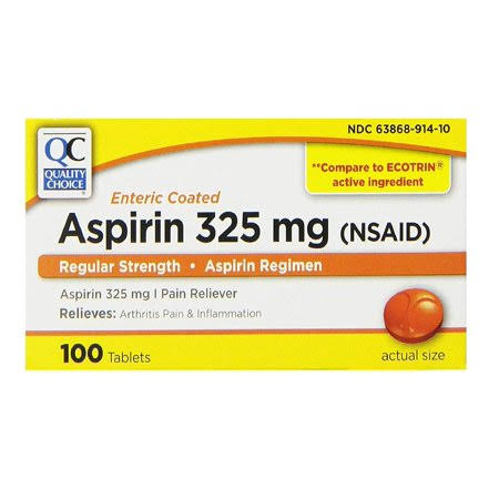 Quality Choice Regular Strength Enteric Coated Aspirin