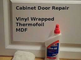 Thermofoil Cabinet Doors Peeling by Repair Loose Vinyl Cabinet Door Edges Youtube