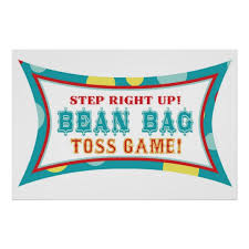 Bean Bag Toss Booth Sign Carnival Circus Birthday