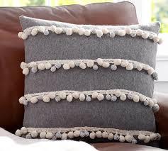 Pom Pom Stripes Pillow Cover
