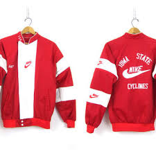 Vintage NIKE Track Jacket Iowa State University Cross Country Nylon Coat Athletics Work Out ISU Cyclones