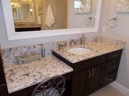 Master Bathroom Vanity With Makeup Area by Granite