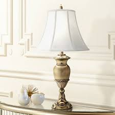 Stiffel Bell Lamp Shades by Stiffel Burnished Brass Urn Table Lamp 2x830 Lamps Plus