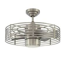 Kitchen Ceiling Fans Home Depot by Designers Choice Collection Enclave 23 In Satin Nickel Ceiling