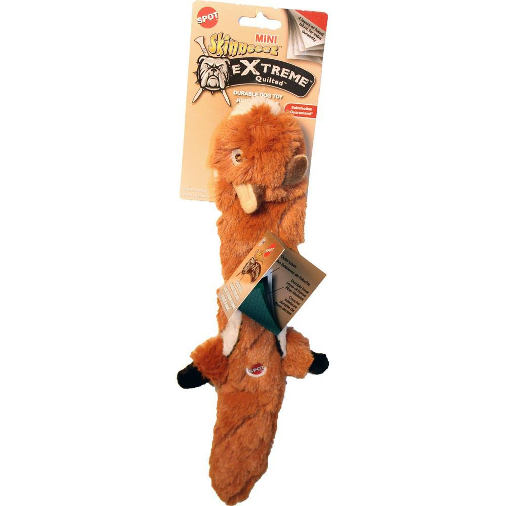 Spot Ethical Mini Skineeez Extreme Quilted Chipmunk Dog Toy - 14""