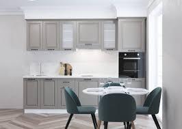 Modern White Kitchen Interior 3d Rendering Stockfoto Und Stylish Kitchen Interior With White Walls A Wooden Floor