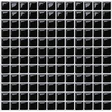 yoillione fliesenaufkleber badezimmer fliesenfolie mosaik fliesensticker bad fliesen selbstklebend fliesendekor schwarz 3d fliesenaufkleber kküche