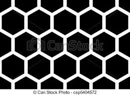Seamless honey b pattern vector illustration Search Clipart