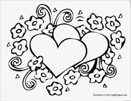 Valentines Hearts Free Printable Coloring Pages Zentangle Blank New Heart