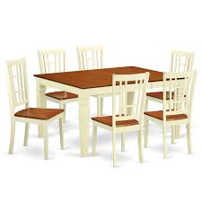 Amazon.com - East West Furniture WENI7-BMK-W Weston 7 Pc Set With A ... Vintage Kitchen Table And Chairs Set House Architecture Design Shop Greyson Living Malone 70inch Marble Top Ding Westlake Transitional Cherry Wood Pvc Leg W6 The 85ft W 6 Forgotten Fniture Homesullivan 5piece Antique White And 401393w48 Plav7whiw Rubberwood 7piece Room Free Shipping Cerille Rustic Brown Of 2 By Foa Amazoncom America Bernette Round East West Niwe6bchw Pc Table Set With A