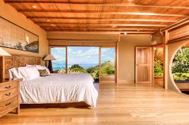 Soothing Wooden Tones And Natural Materials Give The Bedroom With A View Tranquil Touch