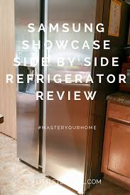 showcase side by side refrigerator review