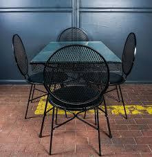 Salterini Iron Patio Furniture by Wrought Iron Mesh Patio Set Designed By Maurizio Tempestini For