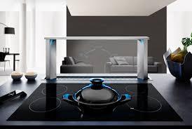 hotte cuisine moteur déporté hotte de plan de travail airone hyperion 900 verre noir h37590015