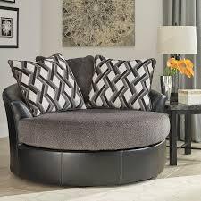kumasi smoke oversized swivel accent chair bernie phyl s