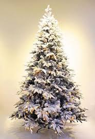 Pre Lit Flocked Artificial Christmas Trees by Pre Lit Real Feel Flocked Alpine Spruce White Artificial Christmas