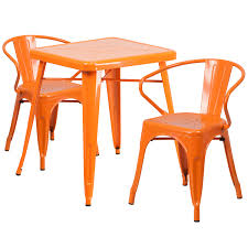 23.75SQ Orange Metal Table Set CH-31330-2-70-OR-GG ... Saddle Leather Ding Chair Garza Marfa Jupiter White And Orange Plastic Modern Chairs Set Of 2 By Black Metal Cafe Fniture Buy Eiffel Inspired White Orange With Legs Grand Tuscany Total Sizes Wd325xh36 Patio Urban Kitchen Shop Asbury With Chromed Velvet Vivian Of World Market Industrial Design Slat Back Products Flash Indoor Outdoor Table 4 Stack