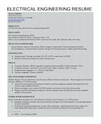 Sample Resume For Freshers Electrical Engineers Pdf Download Format Of Engineer Entry Level Engineering