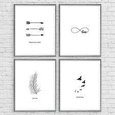 Silhouette Wall Art Instant Download Set Of 4 8x10 Arrow Inspirational Quote Print Woodland Nursery Wild Free