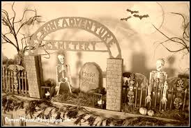 Halloween Graveyard Fence Ideas by Corner Of Plaid And Paisley Halloween Graveyard Mantel St