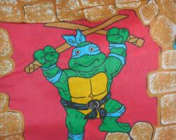 Ninja Turtle Twin Bedding Set vintage sheets tmnt etsy