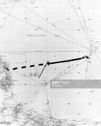 Uss America Sinking Location by Chart Of Uss Indianapolis Routet Pictures Getty Images