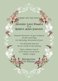 Shabby Chic Vintage Floral Country Rustic Wedding Invitation EWI258