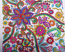 This Is From ZenDoodle Enchanting Gardens Coloring Book I Used Micro Fine Point Ink Pens
