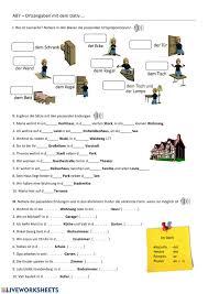 ortsangaben worksheet