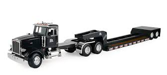 Amazon.com: Big Farm Peterbilt Semi Vehicle With Lowboy Trailer ...