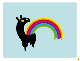 LICORNE ARC EN CIEL VOMIT UNICORN PUKE RAINBOW 100mm AUTOCOLLANT