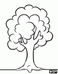 Simple Tree Coloring Page Have Children Color Then Ink Thumb Finger Print Fruit