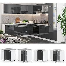 vicco küche r line eckunterschrank 87 cm verschiedene farben