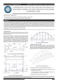 104 Bowstring Truss Design Comparative Study Of The Analysis And Of Girder And Semi Through Plate Girder Super By International Education And Research Journal Issuu