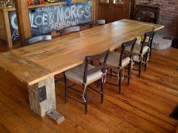 Barn Wood Dining Room Table Bring In Natural Look Inside The House Amazing Upholstered Chairs