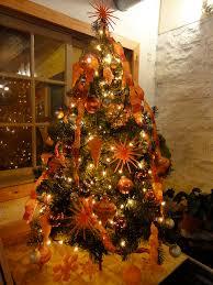 Modern Orange Christmas Tree Ornaments Tittle