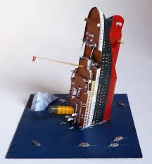 Sinking Ship Simulator The Rms Titanic by Paper Model 1 600 Diorama Titanic Recortables Y Pop Up
