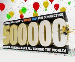 👀👀👀 /r/MMA Reaches 500,000 Juicy Sluts 👀👀👀 : MMA