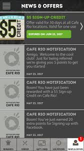 Cafe Rio: FREE $5 Credit With My Rio Rewards App Download ... Insure Bodywork Insurance Coupon Code Adventure Golf Corkymandle Framework Course 19 Best Restaurant Fast Food Apps With Free Coupons Wightlink Discount January 2019 Sundance Catalogue Hallmark Americas Best Pool Supply Codes Discount Stores How Do I Sign Up To Get Coupons In The Mail From Bath And Costco April Boymom Pizza Is Officially Favorite Food Sinapis Brewster Ny Envelopescom Tory Burch Shoes Christmas Tree Shop Shipping