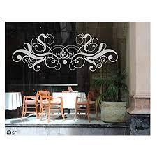 glasdekor glastür aufkleber fensterfolie für wohnzimmer