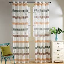 Modern Curtains For Living Room 2016 by 2016 Top Finel Modern Striped Faux Linen Tulle Curtains For Living